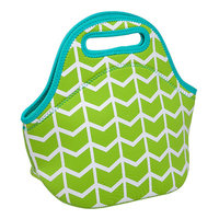 Occasionally Made Lime Geometric Insulated Lunch Bag