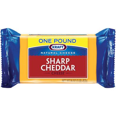 Kraft Natural Cheese Cheddar Sharp Chunk Cheese 16 Oz Brick