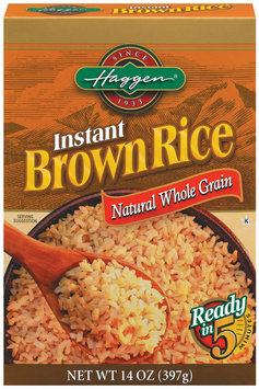 Haggen Instant Brown Rice 14 Oz Box