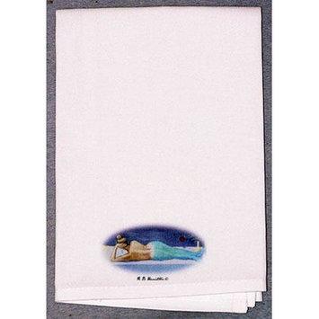 Betsy Drake Interiors Coastal Mermaid Hand Towel (Set of 2)