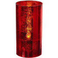 Regency International LED Glass Candle (Set of 4) Color: Red, Size: 3