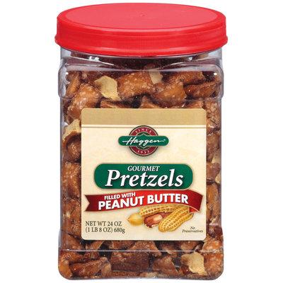 Haggen Filled W/Peanut Butter Gourmet Pretzels 24 Oz Plastic Jar