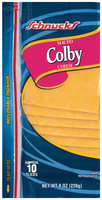 Schnucks Colby Sliced Cheese 8 Oz Shingle Pack