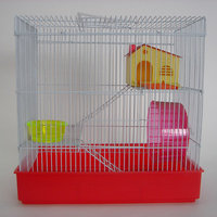 YML H820RD 3 Level Hamster Cage in Red