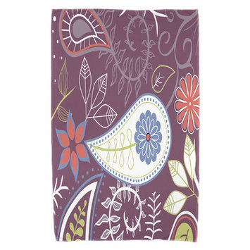 Red Barrel Studio Paisley Floral Beach Towel Color: Purple