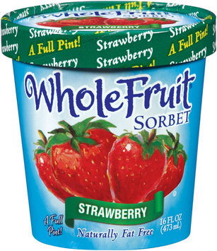 Whole Fruit® Strawberry Sorbet 16 oz.Tub