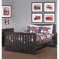 Capretti Design Liscio Toddler and Full Size Bed Conversion Kit Finish: Cherry