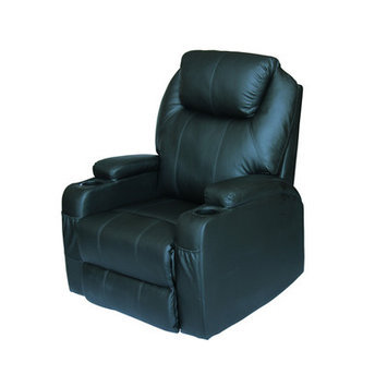 Newacme Llc NEW Modern Electric Recliner Wall Leather Lounge Executive Chair Furniture 8031 Black