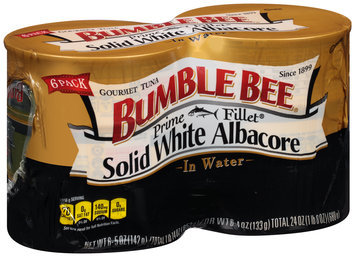 Bumble Bee® Prime Fillet® Solid White Albacore Tuna in Water 6-5 oz. Cans