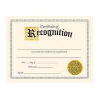 Trend Enterprises Inc TREND ENTERPRISES T2564 CLASSIC CERTIFICATE OF RECOGNITION30/PK 81/2 X 11