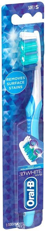 Advantage Oral-B 3D White Vivid 40 Soft Manual Toothbrush 1 Count