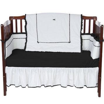 Baby Doll Bedding Unique 4 Piece Crib Bedding Set Color: Black