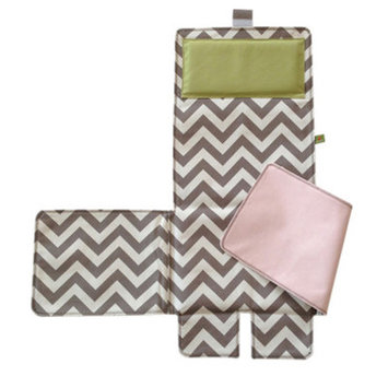 Messy Marvin Mobile Changing Pad / Cover, Pink / Green