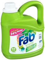 Fab® Ultra Spring Magic with Sparkling Clean Stain Fighters Laundry Detergent 134 fl. oz. Plastic Jug