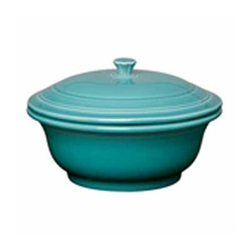 Fiesta Turquoise 70 Oz Covered Casserole