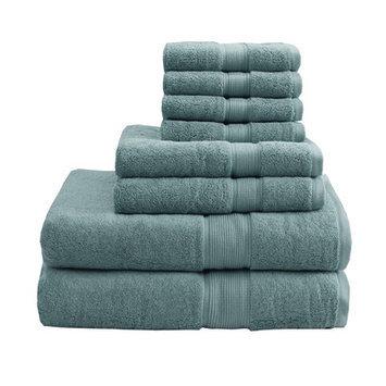 Madison Park Signature 800 GSM Cotton 8 Piece Towel Set Color: Dusty Green