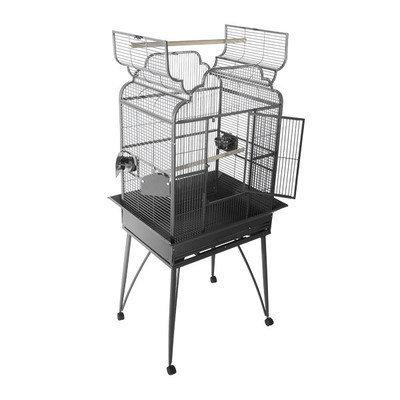 A E Cage Company Large Victorian Dome Top Bird Cage - Color: Platinum