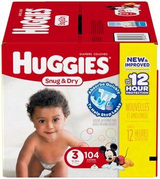 Huggies® Snug & Dry Size 3 Diapers 104 ct Box