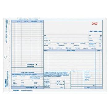 Rediform Auto Repair Order Form, Speediset, 3 Parts, 8