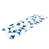 Kess Inhouse Triangles by Project M Yoga Mat Color: Blue