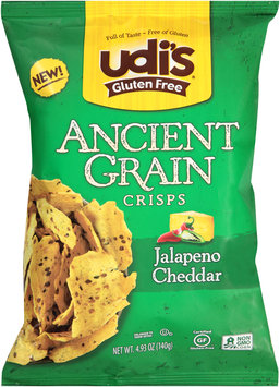 Udi's® Gluten Free Ancient Grain Jalapeno Cheddar Crisps 4.93 oz. Bag