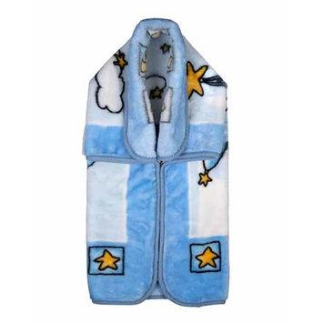 Home Sensation Baby Snuggle Wrap with Zipper Color: Blue