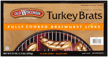 Old Wisconsin® Turkey Brats 21 oz Package