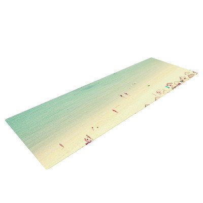 Kess Inhouse Happy Summer by Ingrid Beddoes Beach Yoga Mat