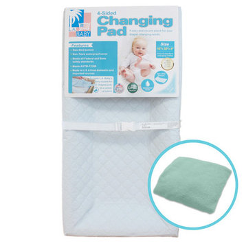 La Baby Combo Pack with 4-Sided Changing Pad and Terry Cover, 4 H x 32 W x 16 D, Mint