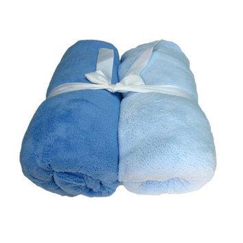 Cozy Fleece Microplush Crib Sheet Color: Light Blue/Dark Blue