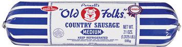 Purnell's Old Folks® Medium Country Sausage 21 oz Chub