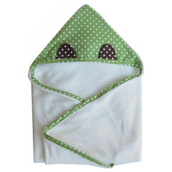 Satsuma Designs Organic Hooded Animal Towel, Frog