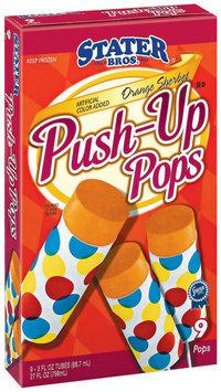 Stater Bros. Orange Sherbet 3 Oz Tubes Push-Up Pops 9 Ct Box