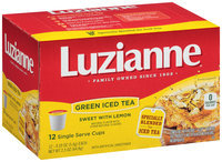 Luzianne® Sweet Green Iced Tea with Lemon Single Serve Cups 12 ct Box