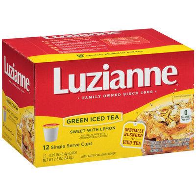 Luzianne® Sweet Green Iced Tea with Lemon Single Serve Cups 12 ct Box