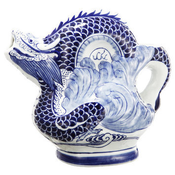A & B Home Group Inc French Chic Garden Dragon Teapot