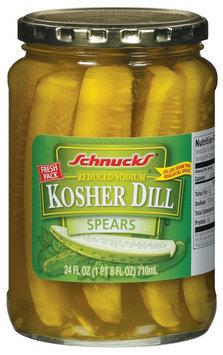 Schnucks Kosher Dill Spears Reduced Sodium Pickles 24 Fl Oz Jar