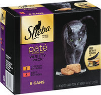 Sheba® Pate in Natural Juices Variety Pack 6-3 oz. Cans