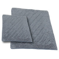 Textile Decor Castle 2 Piece 100% Cotton Shooting Star Reversible Bath Rug Set, 24 H X 17 W and 40 H X 24 W