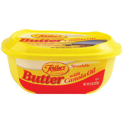 Keller's® Spreadable Butter with Canola Oil 8 oz. Tub