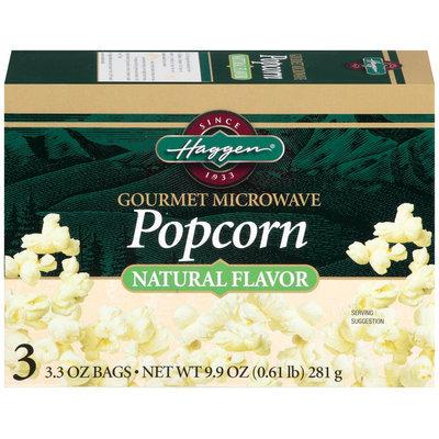 Haggen Gourmet 3.3 Oz Bags  Microwave Popcorn 3 Ct Box