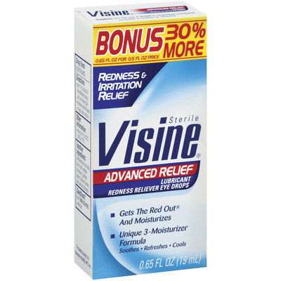 Visine® Visine Advanced Relief 30% Bonus Redness/Irritation Relief .65 Oz Box