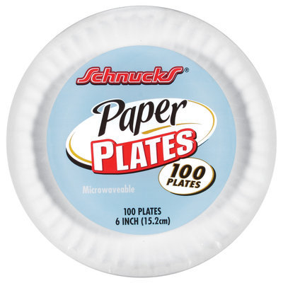 Schnucks Round 6 In. Ea. Paper Plates 100 Ct Wrapper