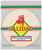 Calidad Flour Tortillas 14.38 Oz Bag