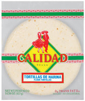 Calidad Flour Tortillas 14.38 Oz Bag
