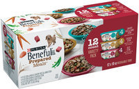 Purina Beneful Prepared Meals Variety Pack Dog Food 12-10 oz. Plastic Tubs