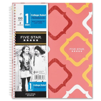 Mead Products Five Star 1-Subject College Ruled Notebook