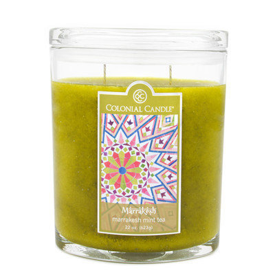 Fragranced in-line Container CC022.2858 Marrakesh Mint Tea 22oz. Oval Candles