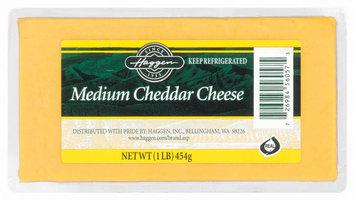 Haggen Medium Cheddar Cheese 1 Lb
