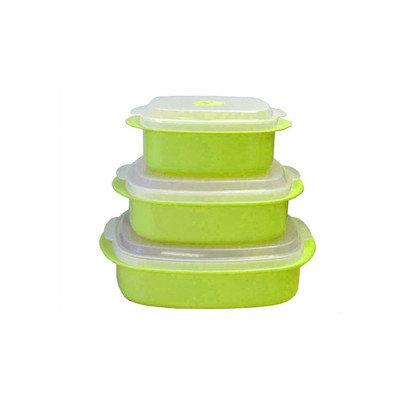 Reston Lloyd Calypso Basics Microwave Steamer Set in Lime (Set of 2)